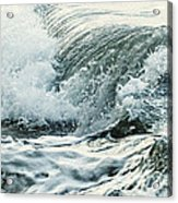 Waves In Stormy Ocean Acrylic Print