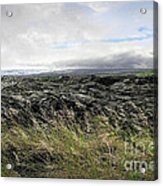 Waves Of Clouds Sea Lava And Grass Acrylic Print
