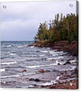 Waves Of Lake Superior Acrylic Print