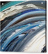 Textured Waves Of Blue Acrylic Print