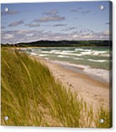 Waves Of Water And Grass Acrylic Print