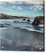 Waves On The Rocks Acrylic Print by Adam Jewell
