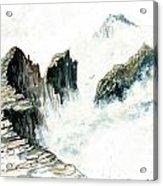 Waves On The Rocks Acrylic Print