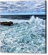 Waves To Rocks Acrylic Print