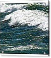 Waves Triptych Ll Acrylic Print