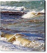 Waves - Wind - Fury Of The Sea Acrylic Print