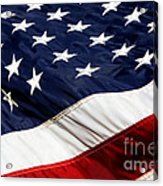 Waving At America Acrylic Print by Lincoln Rogers