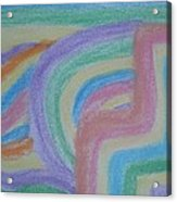 Waving Colors Acrylic Print