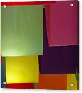 Waving The Color Acrylic Print
