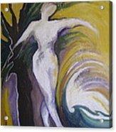 Waving Yellow Acrylic Print