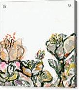 Wavy Flowers Acrylic Print