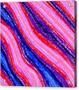 Wavy Oil Pastel Acrylic Print by Hakon Soreide