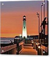 Wawatam Lighthouse Sunrise Acrylic Print