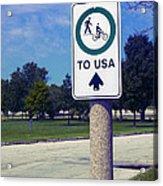 Way To The Usa Acrylic Print