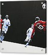 Wayne Rooney - Manchester United Fc Acrylic Print