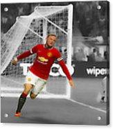 Wayne Rooney Scores Again Acrylic Print