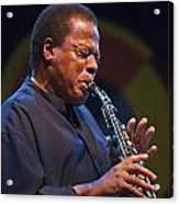 Wayne Shorter Plays Acrylic Print by Craig Lovell