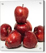 We Are Family - 6 Red Apples - Fresh Fruit - An Apple A Day - Orchard Acrylic Print