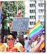 We Support Our Lgbtq Students Acrylic Print
