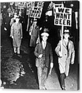 We Want Beer Acrylic Print