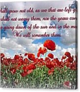 We Will Remember Them... Acrylic Print
