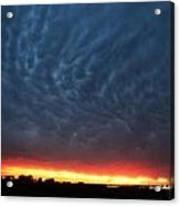 Weaking Cells Made For A Perfect Mammatus Sunset Acrylic Print