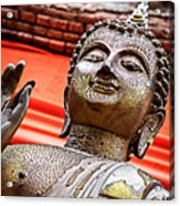 Wear-and-tear Buddha Acrylic Print by Dean Harte