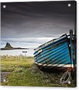 Weathered Boat On The Shore Acrylic Print
