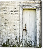 Weathered Door Acrylic Print