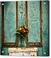 Weathered Door Acrylic Print by Patty Descalzi