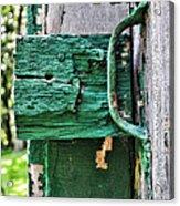 Weathered Green Paint Acrylic Print