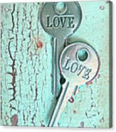 Weathered Love Acrylic Print