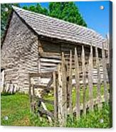 Weathered Old Country Barn Acrylic Print