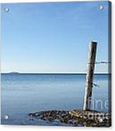 Weathered Old Wooden Pole Acrylic Print