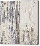 Weathered Paint On Wood Acrylic Print