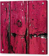 Weathered Red Acrylic Print
