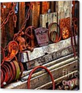Weathered Rims And Chains Acrylic Print