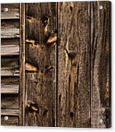 Weathered Wooden Abstracts - 3 Acrylic Print