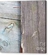 Weathered Wooden Boards Acrylic Print