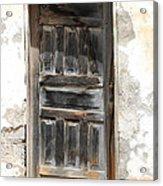 Weathered Wooden Gray Door Acrylic Print