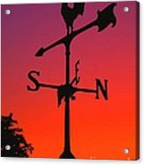Weathervane At Sunset Acrylic Print