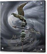 Weathervane Acrylic Print by Steven  Michael