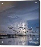 Weaver Pier Illuminated Acrylic Print