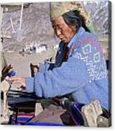 Weaving Scarves In Muktinath Acrylic Print