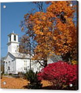 Webster Church On A Fall Day Acrylic Print