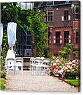 Wedding Arrangement In De Haar Castle. Utrecht  Acrylic Print