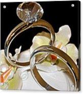 Wedding Cake Rings Black Acrylic Print