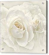 Wedding Day White Roses Acrylic Print