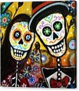 Wedding Dia De Los Muertos Acrylic Print