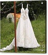 Wedding Dress  Acrylic Print